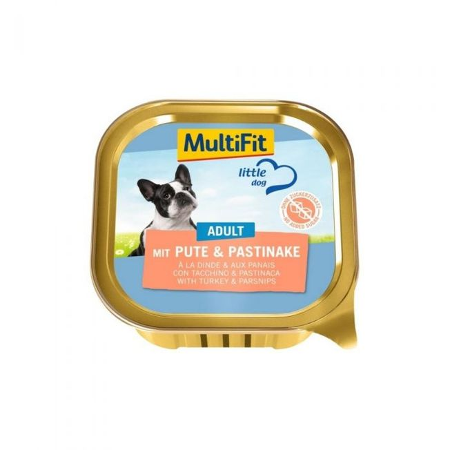 MultiFit Little Dog Adult puran in pastinak, 150g