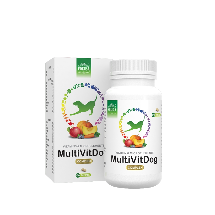 POKUSA Multivit Dog, 120 tablet