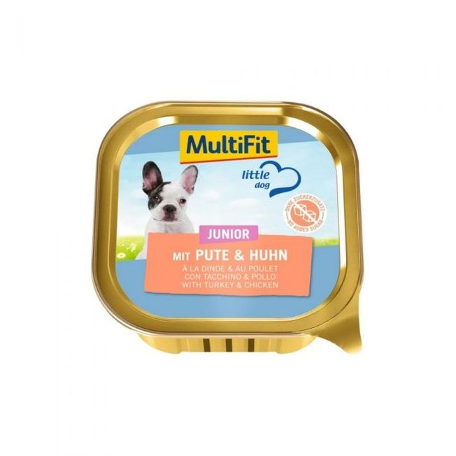 MultiFit Little Dog Junior Puran in Piščanec, 150g